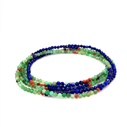 "Bella Beaded Convertible Necklace/Bracelet 36""-38"""