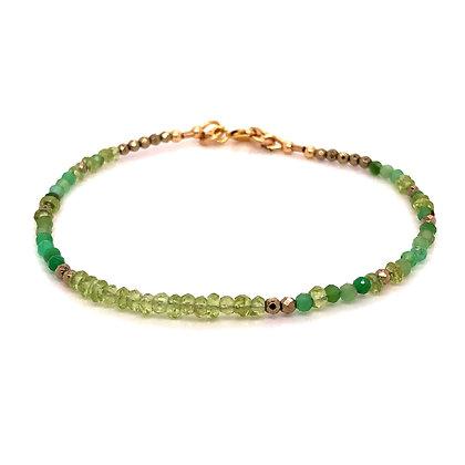 Bella Beaded Bracelet - Peridot & Chrysophase
