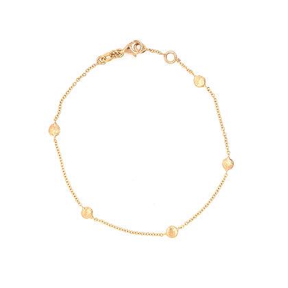 14KY Textured Dot Bracelet