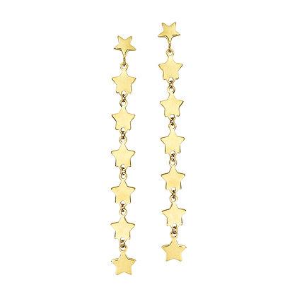14KY Star Dangle Earrings