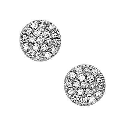 Bassali 14KW Diamond Disk Earrings