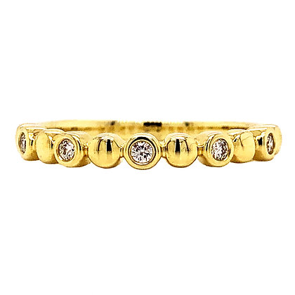14KY Bezel Set Diamond Stackable Ring