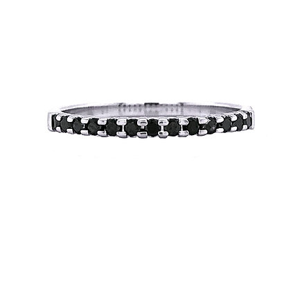 14KW Black Diamond Stackable Ring