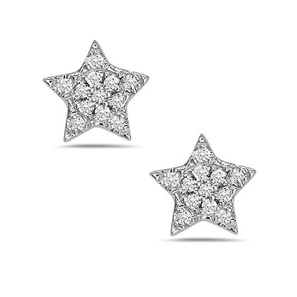 Bassali 14KW Diamond Star Studs
