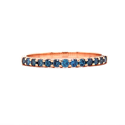 14KR Treated Blue Diamond Stackable Band