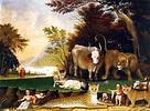Peaceable-Kingdom-Edward-Hicks-oil-paint