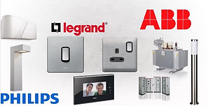 atlantic infinity limited, Electrical accessories, philips led lights, abb, legrand, scnhneider panels
