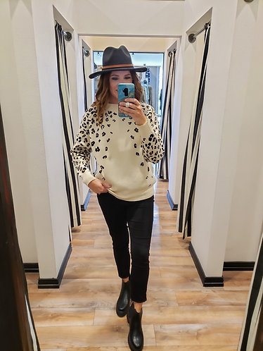 Oatmeal Ombré Cheetah Sweater