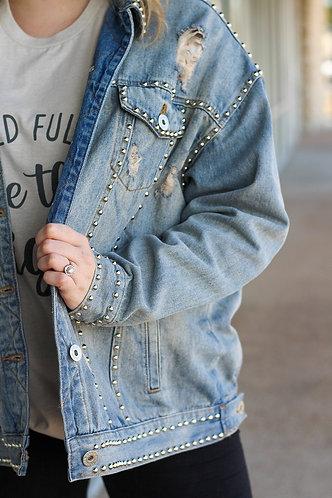 Stud Denim Jacket