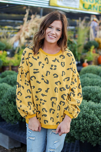 Gold Cheetah Sweatshirt