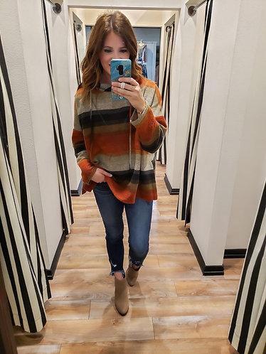 Fall Stripe Hoodie