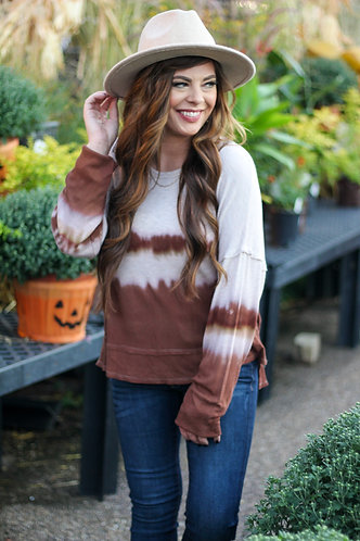 Brown Tones Tie Dye Top