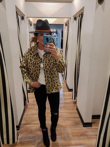 Washed Leopard Oversized Jacket
