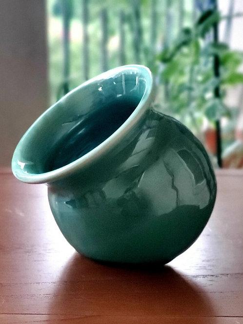 Green salt pot