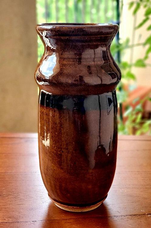 Temmoku Brown Vase