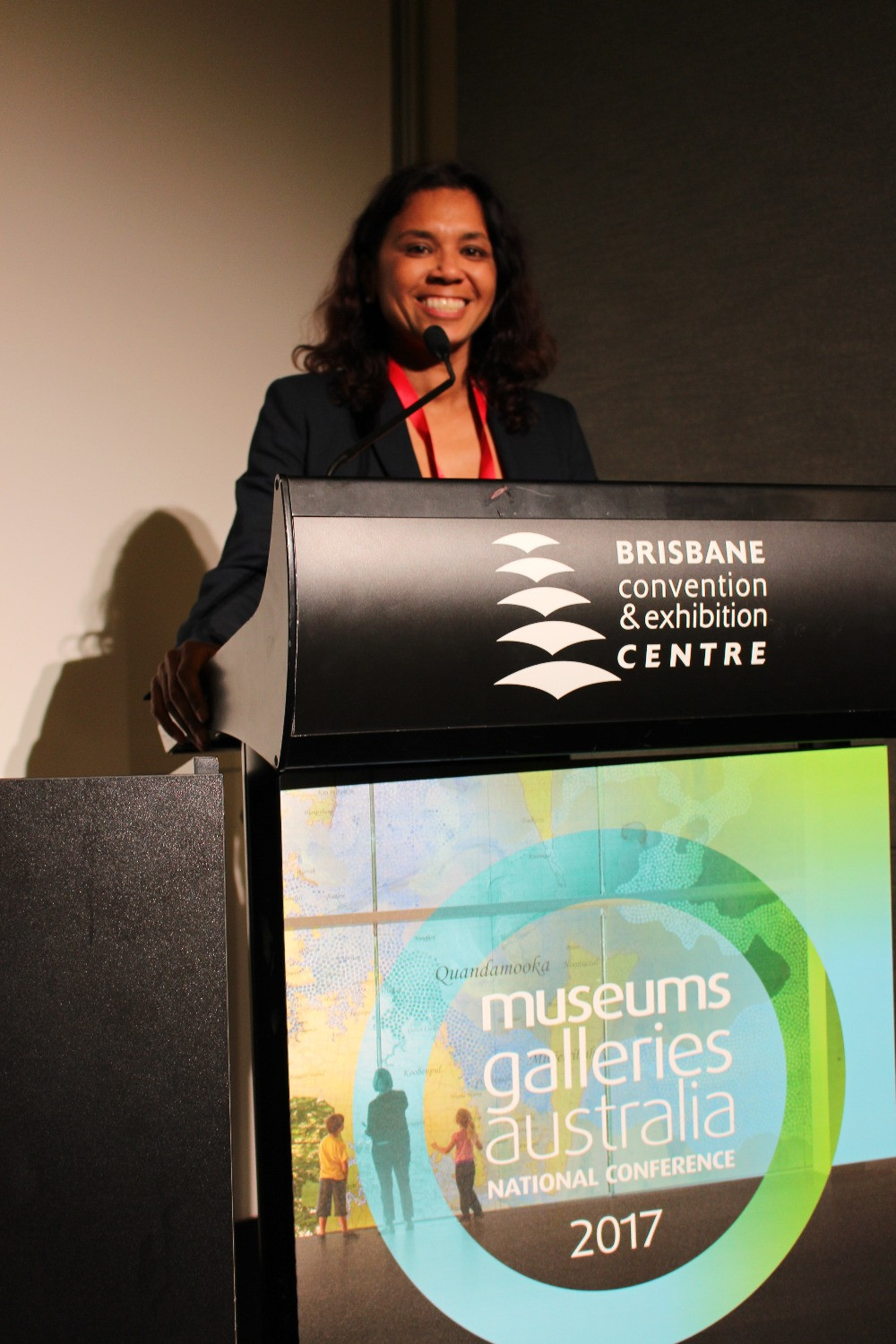 Terri Janke speaking at the Museums Galleries Australia Conference 2017