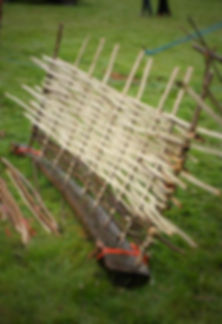 hurdle making in Dorset, wattle hurdles in dorset