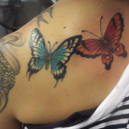 Feminine tattoo cover-up