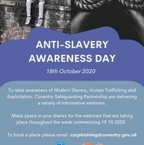 Anti-Slavery Awareness Day 18th October 2020