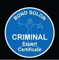 Bond Solon Criminal Expert Witness Certificate