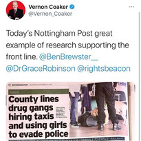 County lines drug gangs hiring taxis and using girls to evade police