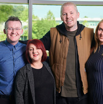 Dr Sean Creaney, Dr Eleanor Peters, Professor Green and Dr Grace Robinson