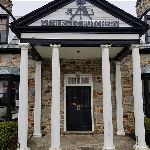 The front entrance of John Brown General and Butchery shop