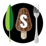 An icon of a Leaf, Mushroom, and fork with the letter S across the mushroom