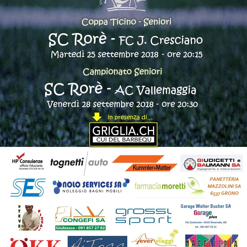 SC Rorè - AC Vallemaggia