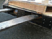 Forklift picking up pointGUARD protected pallet