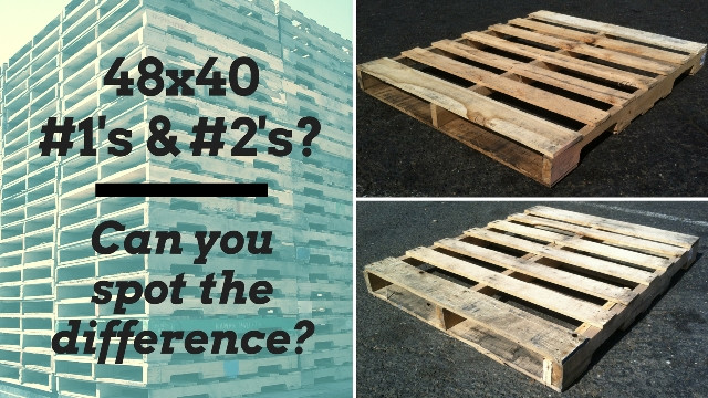 Comparing used 48x40 #1 and #2 pallets