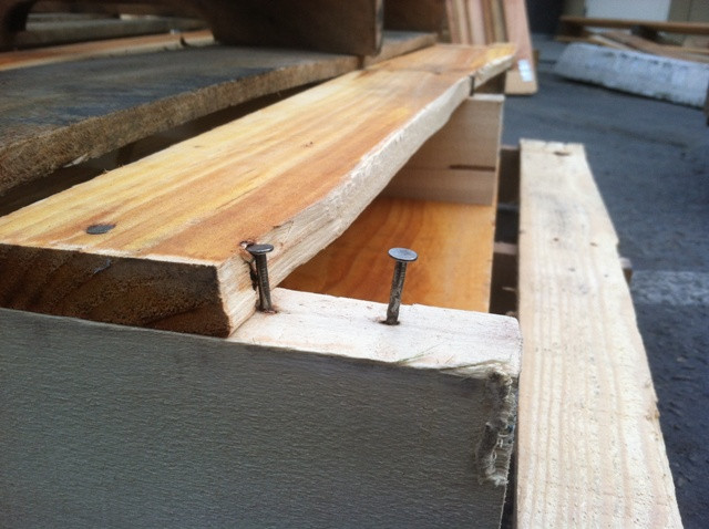 Pallet damage on top lead board