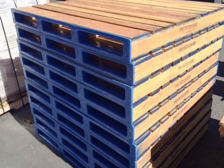 LX50RS4 pointGUARD Pallet Protector in blue