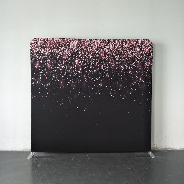 Pink + Black Glitter