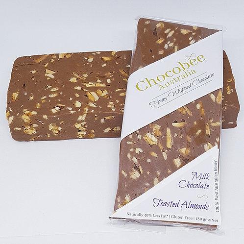 Milk Chocolate & Toasted Almond Bar - 180gm