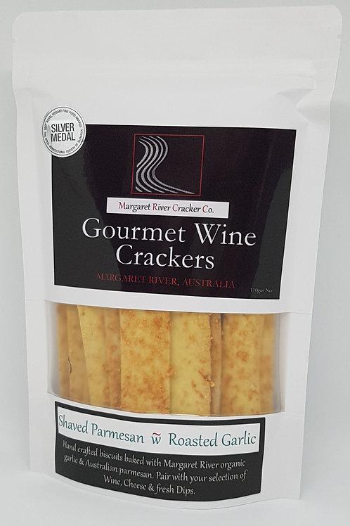 Shaved Parmesan & Roast Garlic Wine Cracker - 110g