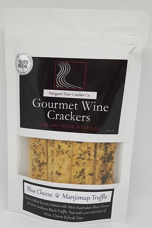 Blue Cheese & Manjimup Truffle Wine Crackers 110gm
