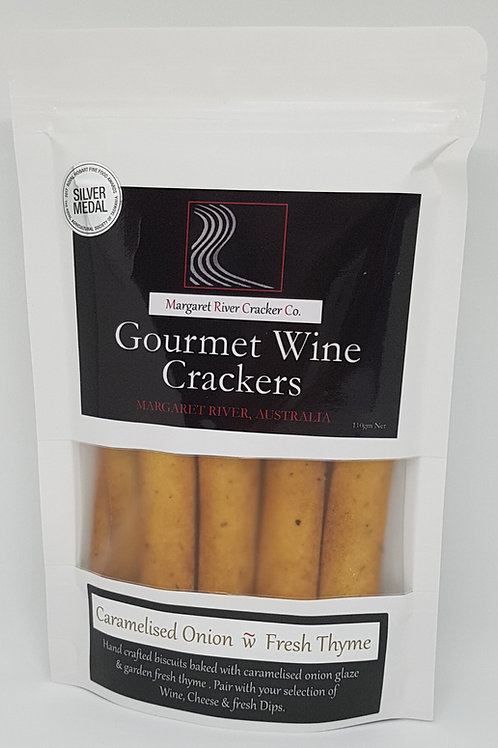 Caramelised Onion & Thyme Wine Crackers 110gm
