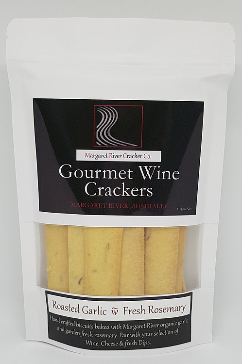 Roasted Garlic & Fresh Rosemary Wine Cracker 110gm