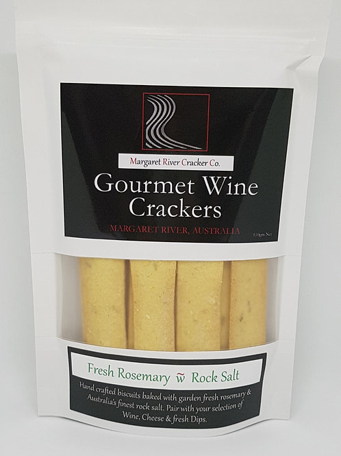 Fresh Rosemary & Rock Salt Wine Cracker 110gm