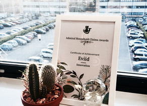 eviid handed the 'Innovation' Award at Admiral's 2018 Household Claims Awards