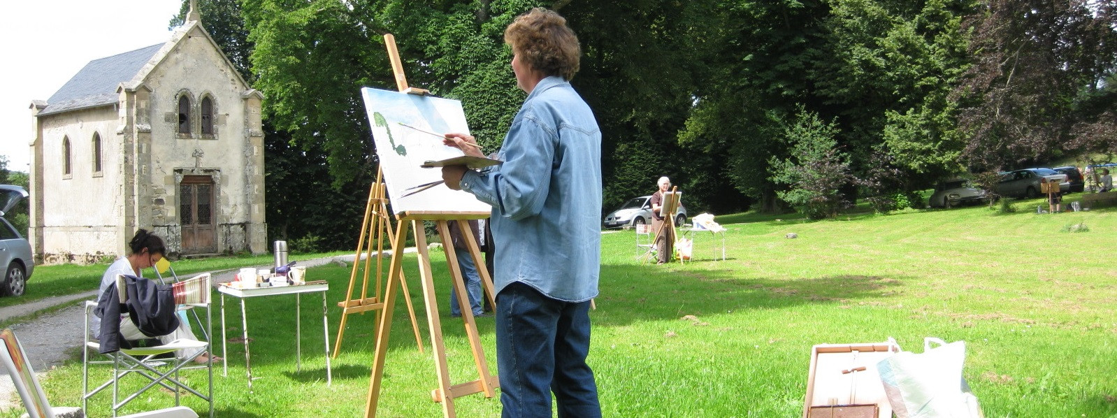 PAINTERS COURSE ON THE ABBEY