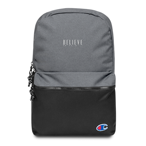 OFFICIAL Believe In Yaself' Embroidered Champion Backpack