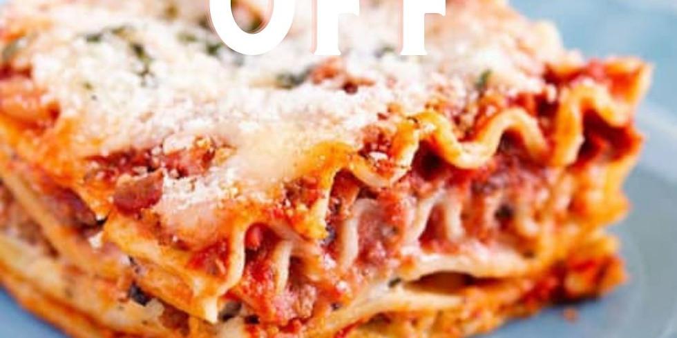 Lasagna off