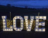 Giant 4ft LED LOVE letters