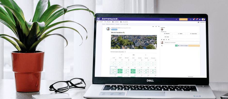 Organize the Presence of Your Teams on Site with Jamespot!