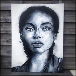 Acrylique sur bois.  103x68cm