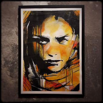 Kelu Abstract - Peinture sur Papier 50x70cm