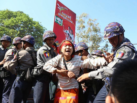 Myanmar violence continues to grow: live ammunition is used in demonstrations