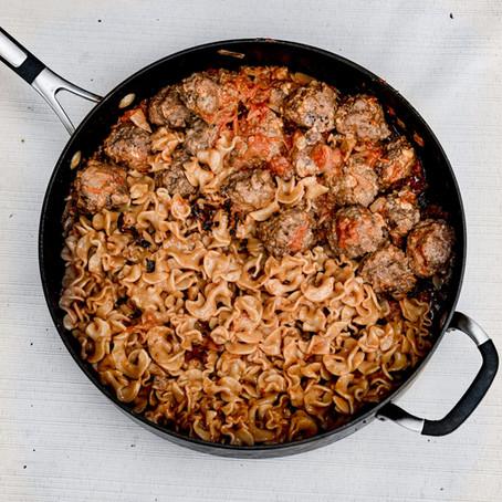 Recipe: One Pot Meatballs and Spaghetti